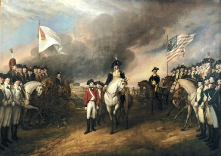 Trumbull, John: The Surrender of Lord Cornwallis at Yorktown, October 19, 1781. Historical/Military Fine Art Print/Poster. Sizes: A1/A2/A3/A4 (0027)